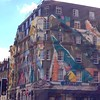 Love the wild painting over the older-style #architecture! #london