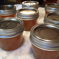 Love hearing the lids pop!  #canning