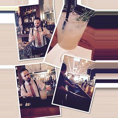 """@sidecar_slo """"helping' with a distributor #winetasting and having a #gorgeous #cocktail """"the cure' refreshingly #delish #ShareSLO"""
