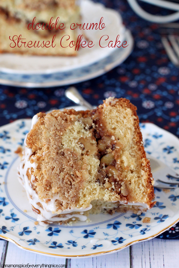 Double Crumb Streusel Coffee Cake #dessertrecipes