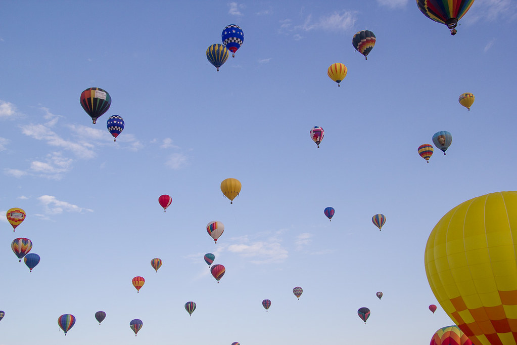 Mass Ascension at the Hot Air Balloon Fiesta in Albuquerque