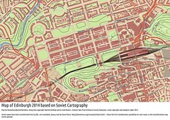 Soviet Military Map of Edinburgh 2014, using QGIS