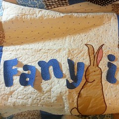 Souping up an orphan quilt.