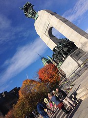 The scene at the Cenotaph earlier today. #MyOttawa