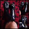 Love, love, love these boots! Thank you Honey @mistergram354! #drmartens #patentleather #20eye #1b60 #kneehighboots #docmartens #legs #gams #lookingdown