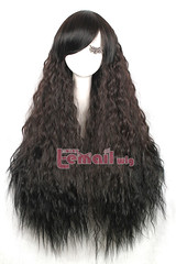 90cm Long Dark Brown And Black Rhapsody Curly Cosplay wig