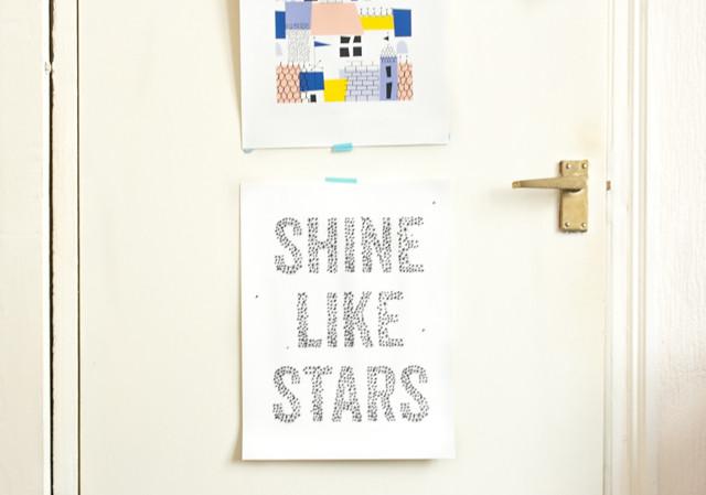 shine like stars print by liz mosely
