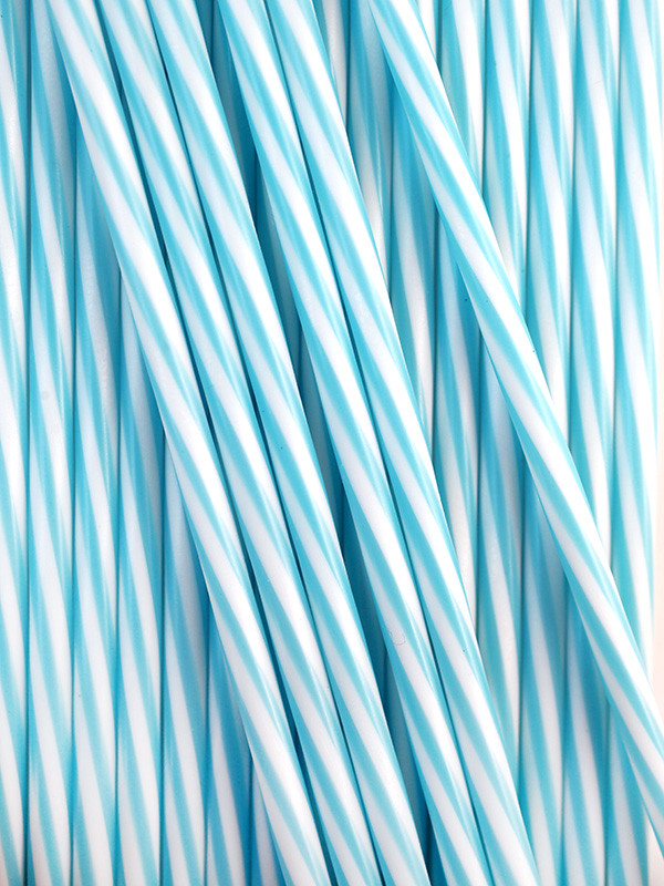Blue Cake Pop Striped Sticks