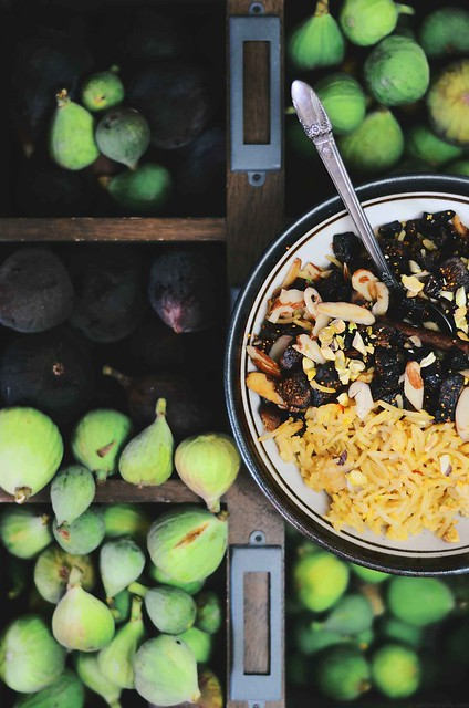 Indian Sweet Rice with Dried Figs and Nuts | A Brown Table