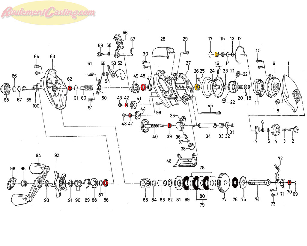 Schéma Daiwa TDZ 103HL Type R+