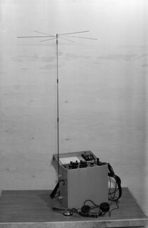 Short wave radio telephone made in Yleisradio's workshop, ca. 1940.