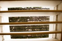 Les persiennes qui garnissent portes, baies et fenêtres protègent du soleil et de la pluie et favorise une ventilation naturelle.
