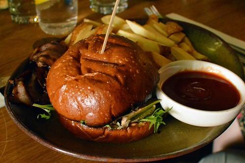 Aged beef cheeseburger