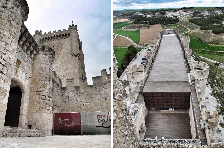 reharq_museo provincial del vino_peñafiel_arquitectura_patio sur castillo
