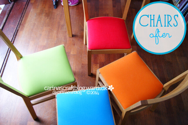 Chairs makeover - after