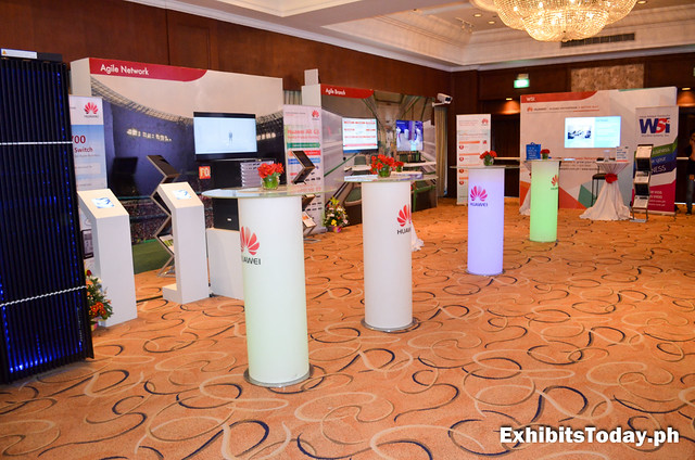Huawei Exhibit Wall Panels inside Intercontinental Manila
