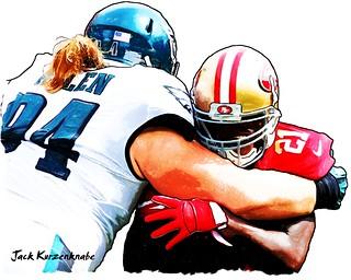 San Francisco 49ers Frank Gore - Philadelphia Eagles Beau Allen