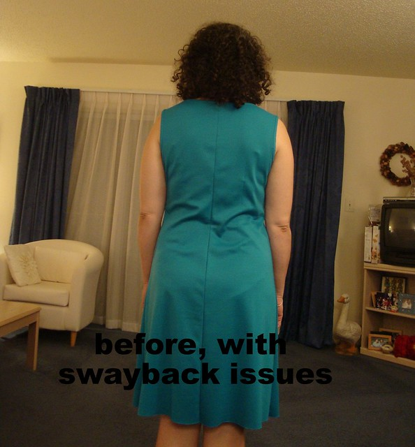 Before with swayback issues