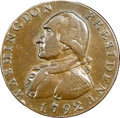 1792 Washington President Cent obverse