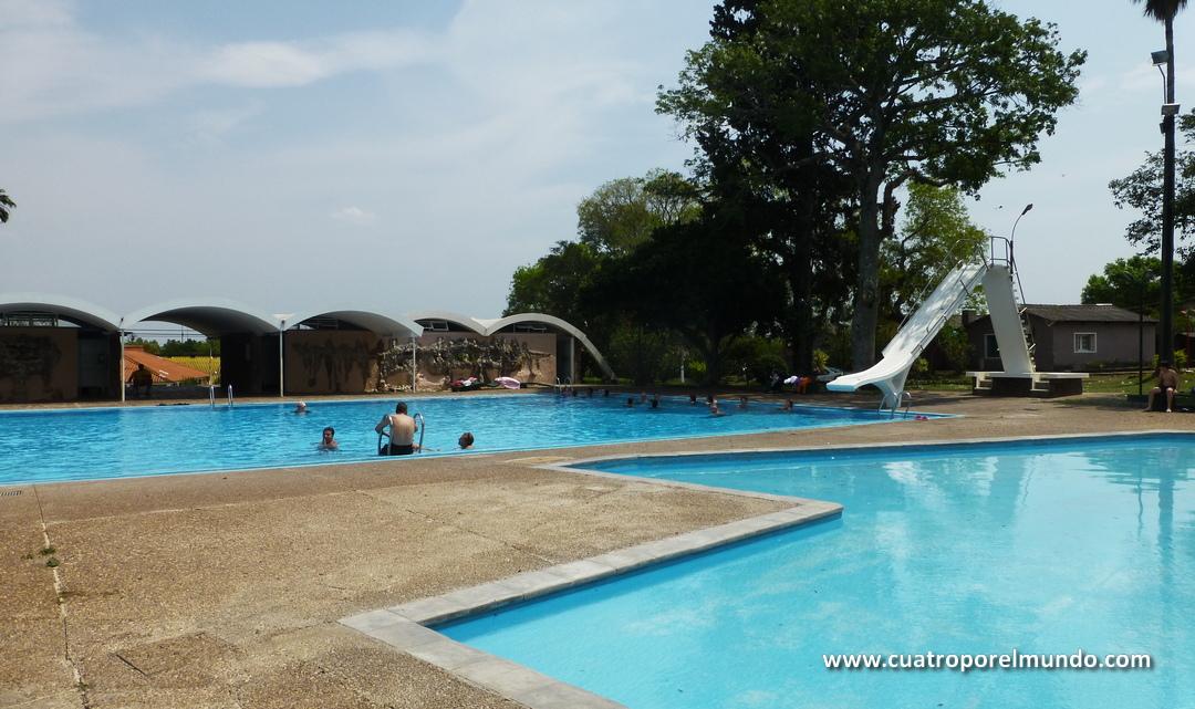 Una de la piscinas principales de Arapey