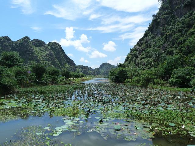 Paisaje de Hoa Lu, no muy lejos de Tam Coc (Vietnam)