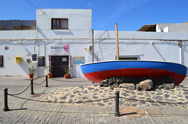 Boat in old town, Corralejo, Fuerteventura, Canary Islands