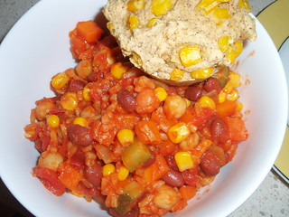 Sarah's Delicious Chili; Country Corn Muffins