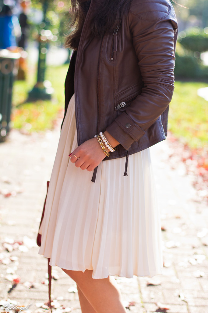 pleated skirt, leather jacket, leopard pumps-5.jpg