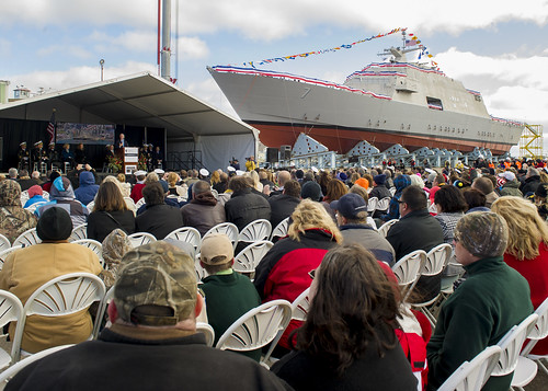 Navy Christens, Launches Future USS Detroit