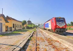 Macedonia & Western Thrace, Toxotes, stationed OSE train enroute to Thessaloniki, Greece  #Μacedonia