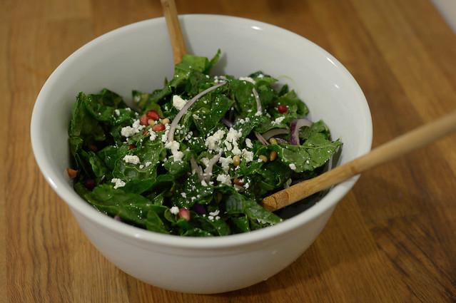 kale salad with orange honey dressing