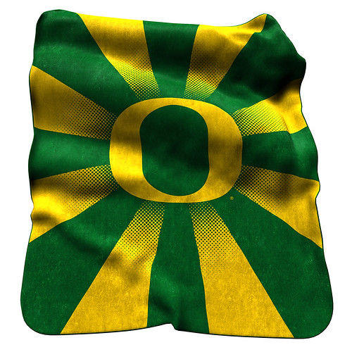 Oregon Ducks NCAA Raschel Blanket