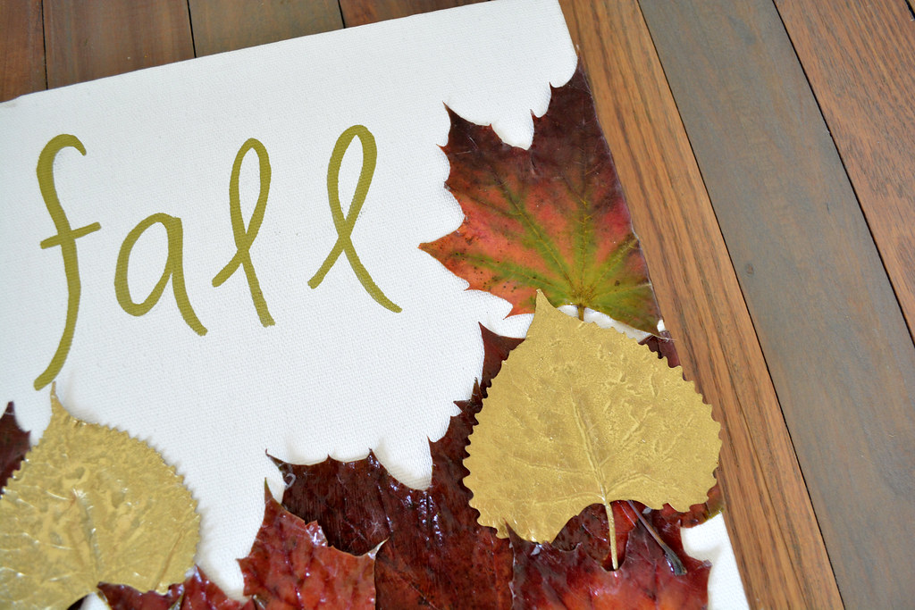 Gilded Fall Leaf Artwork // Lovely Wren