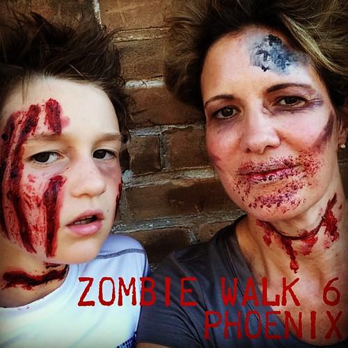 Zombie Walk 6 #zombiewalk6 #zombiewalkphoenix #lovemyboy #sweetshoppemom #blendedconf @blendedconf