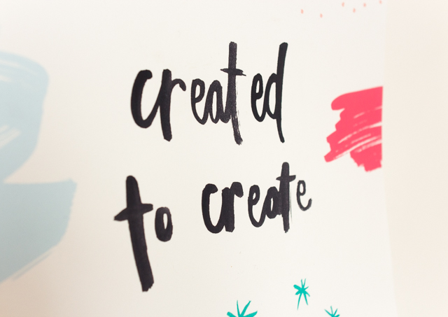 created to create print