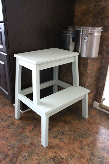 repainting the kitchen stool with behr marquee paint in. Black Bedroom Furniture Sets. Home Design Ideas
