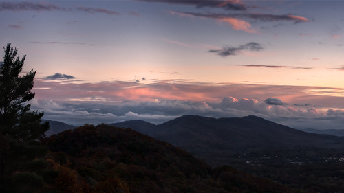 pink autumn sunset mountains color colour beautiful weather clouds creek lens nc nikon colorful angle wide northcarolina valley nikkor overlook hdr blueridgeparkway haw brp