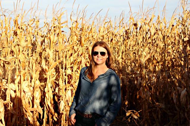 Jenni at Fritzler Corn Maze