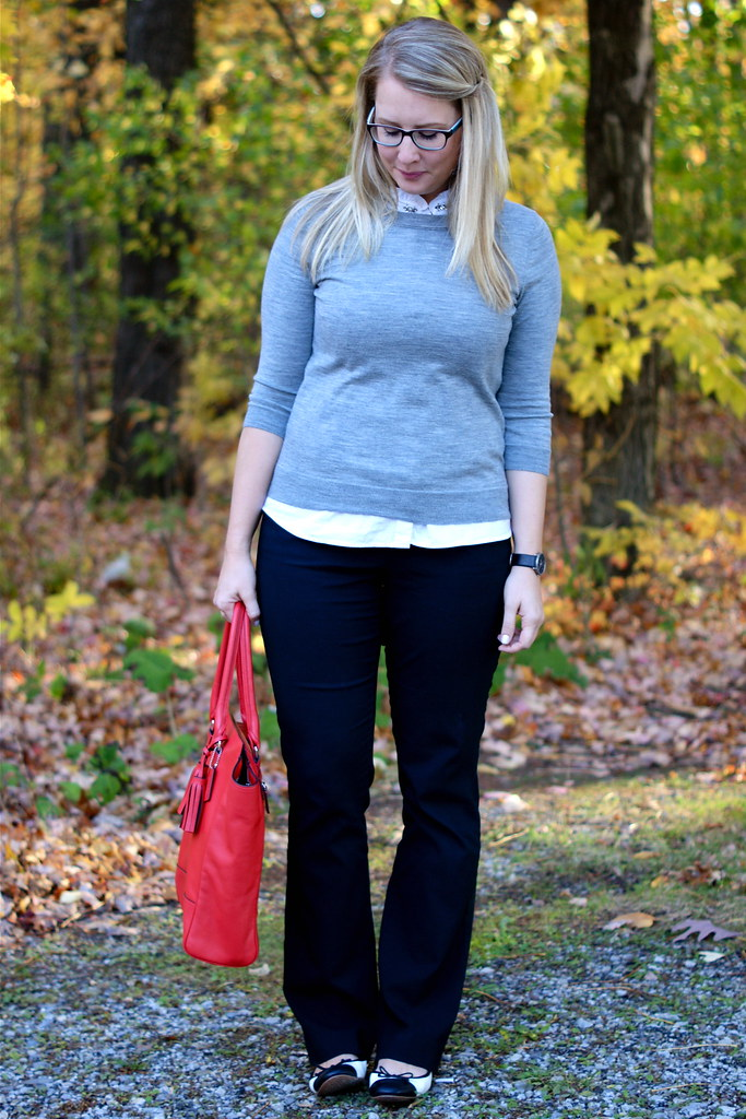 jeweled collar under sweater