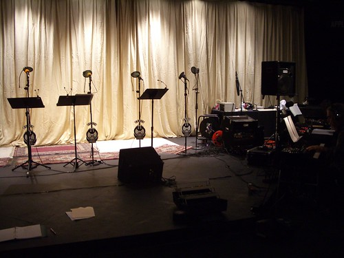 Stage setup at Stage Door Players
