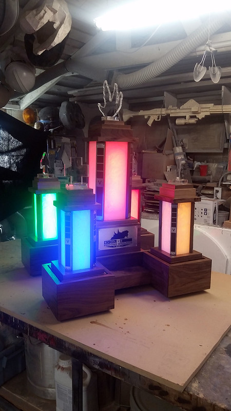Completed Illuminated Revolving Trophy