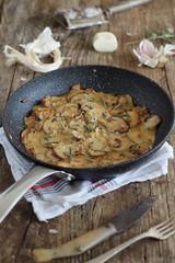 Champiñones con salsa brie -  Mushrooms with brie…
