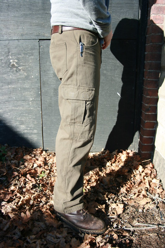 Thread Theory Jutland Pants in Brown/Green English Canvas