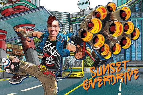 Sunset Overdrive Photobooth at Microsoft Stores