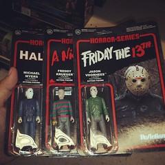 The horror holy trinity. #Freddy #Jason #MichaelMyers #halloween #NightmareOnElmStreet #fridaythe13th