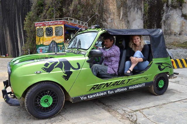 Ancient Renault taxi, colombia