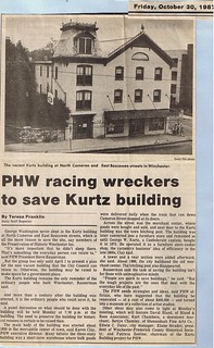 PHW racing wreckers to save Kurtz Building