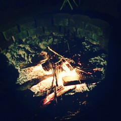 #bonfire dying down #lastnight #family #halloween #party #firepit