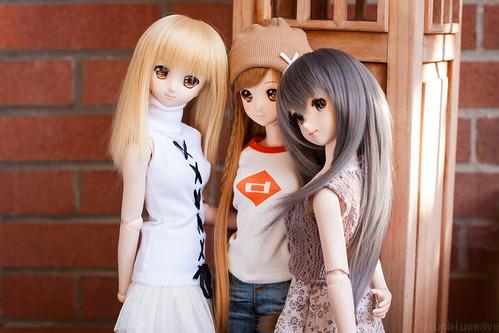 Kaede, Mirai and Ayuko