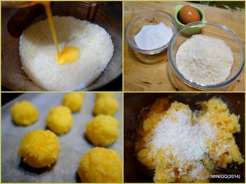 20140930 W09椰香英式馬卡龍 Coconut macaroons (椰子球)-1